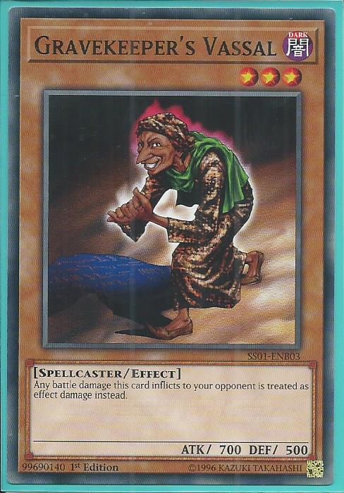 SS01-ENB03 Gravekeeper/'s Vassal 1st Edition Mint YuGiOh Card