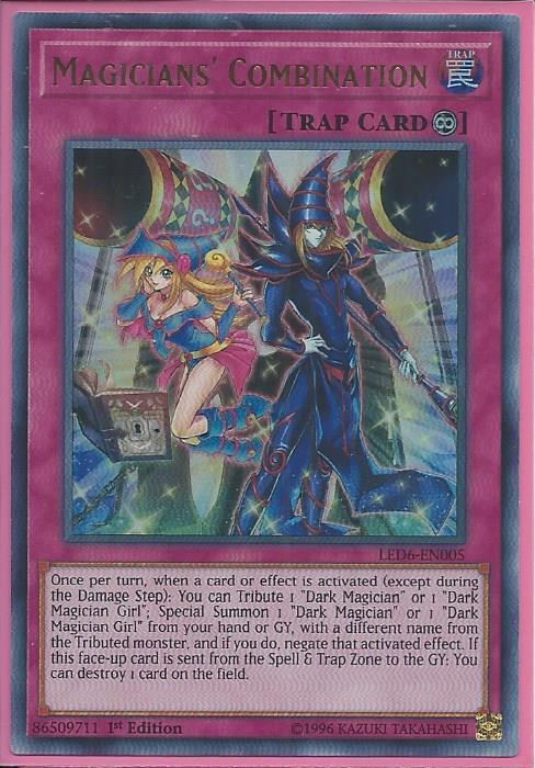 Yugioh Magician/'s Combination LED6-EN005 Ultra Rare Unlimited  Mint