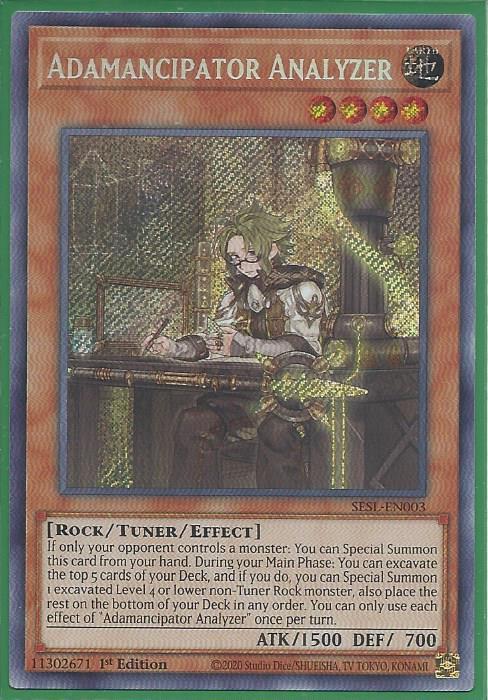 YUGIOH ADAMANCIPATOR SEEKER SESL-EN001 1ST SECRET X1