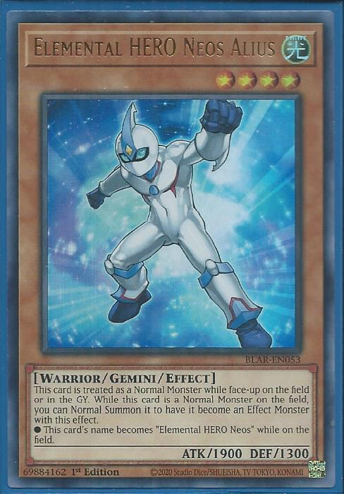 3x Elemental HERO Neos Alius 1st Edition Ultra Rare BLAR-EN053 Yu-Gi-Oh