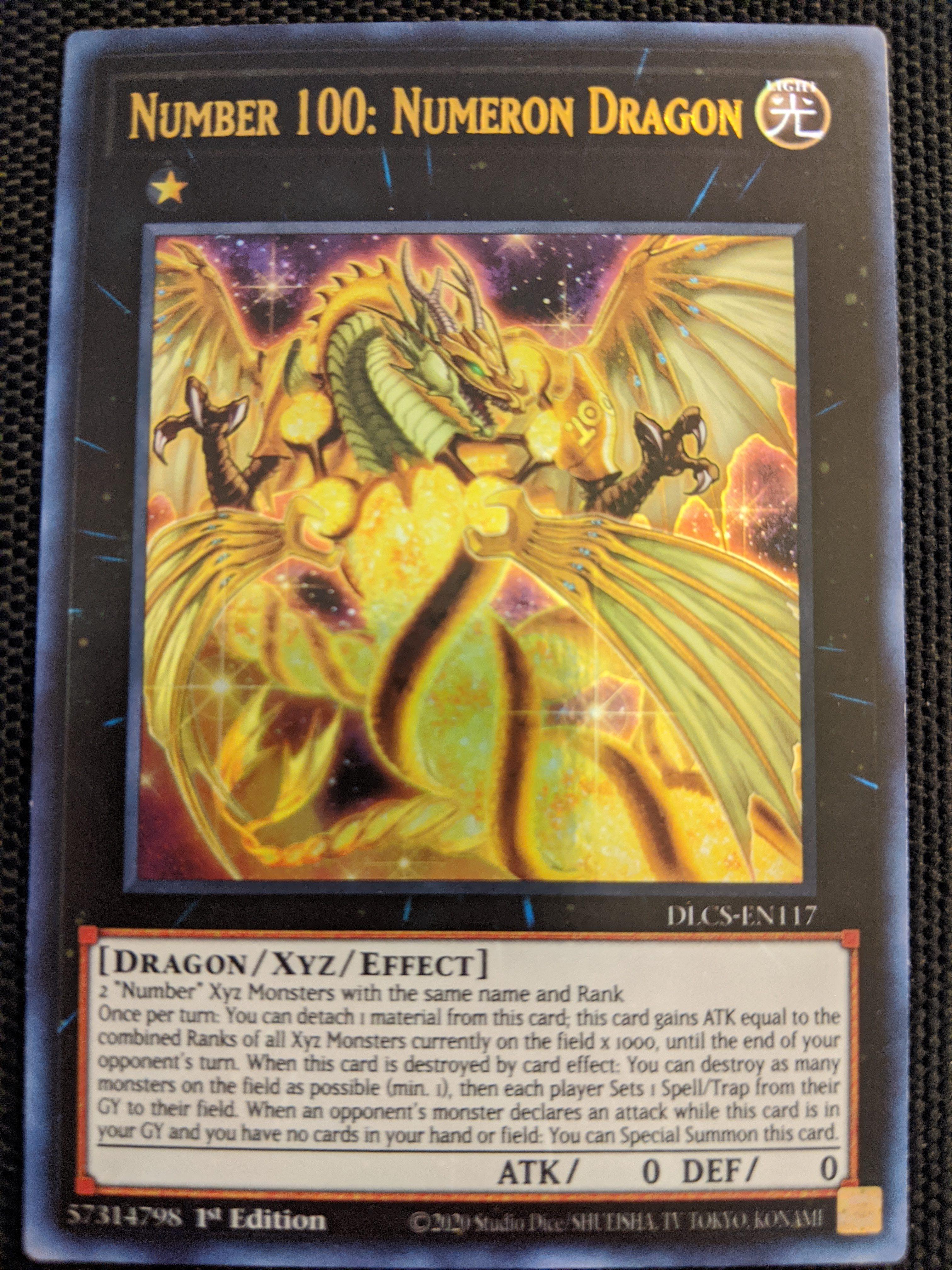 Numeron Dragon DLCS-EN117 Holo Foil Yugioh Dragons of Legend 1st Number 100