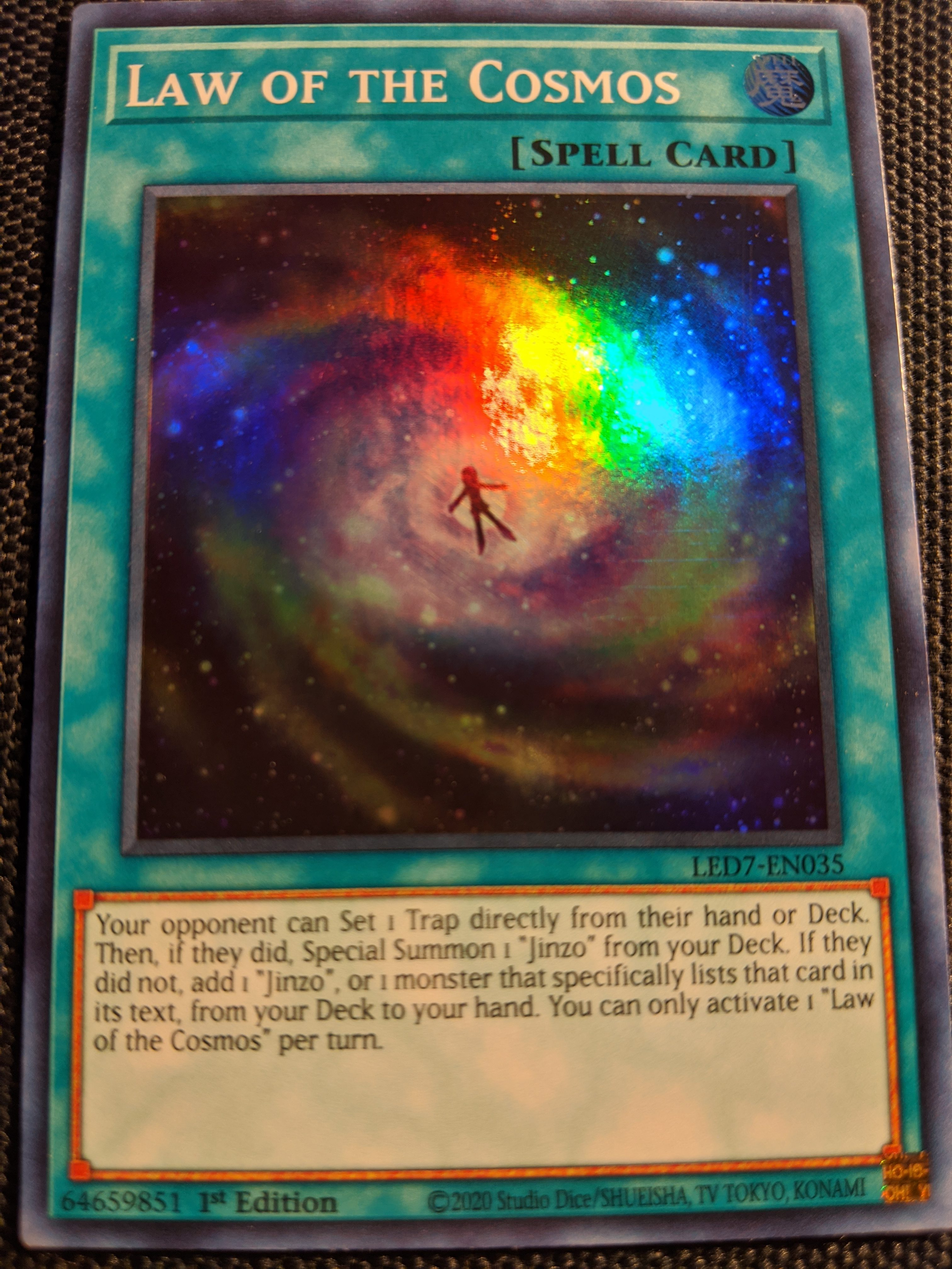 LED7-EN035 Law of the Cosmos Super Rare1st Edition Mint
